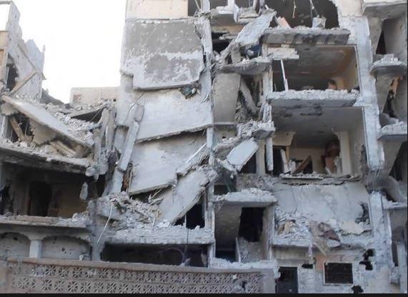شهداء وجرحى في حي الحميدية بديرالزور بقصف للطيران الحربي