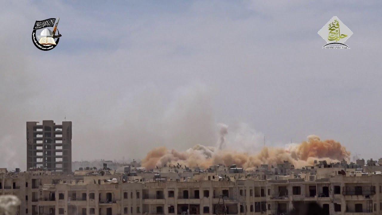 عشرات القتلى للنظام بتفجير الثوار نفق على جبهة حي صلاح الدين بحلب