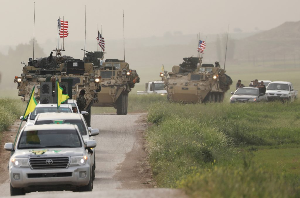Касд: американские войска начали установку 5 наблюдательных пунктов на северо-востоке Сирии | спутниковый канал Аль-Джиср